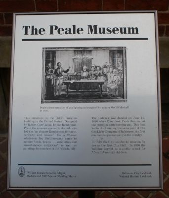 The Peale Museum Marker image. Click for full size.