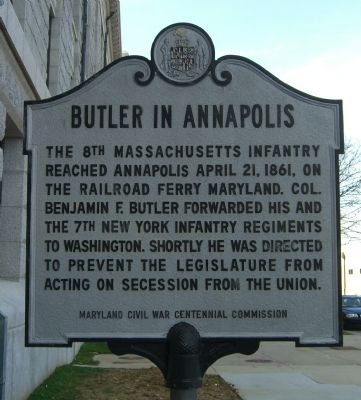 Butler in Annapolis Marker image. Click for full size.