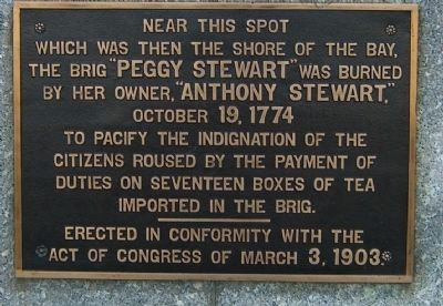 "Burning of the Brig ""Peggy Stewart"" Marker image. Click for full size."