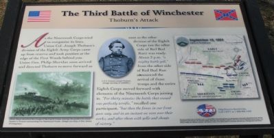 The Third Battle of Winchester Marker Photo, Click for full size