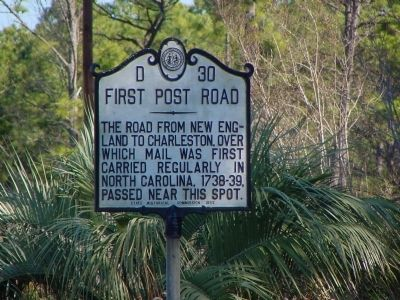 First Post Road Marker image. Click for full size.