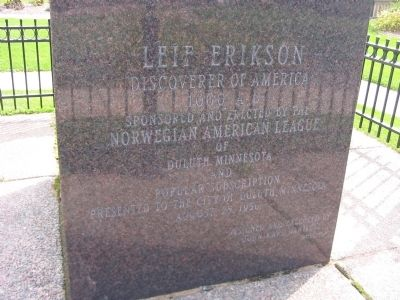 Leif Erikson Marker image. Click for full size.