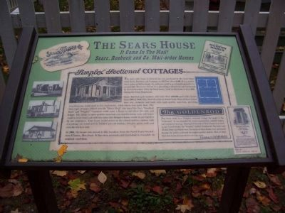 The Sears House Marker image. Click for full size.