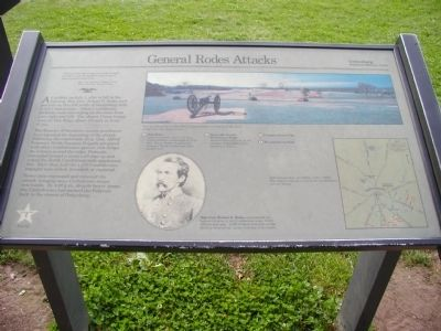General Rodes Attackes Marker Photo, Click for full size