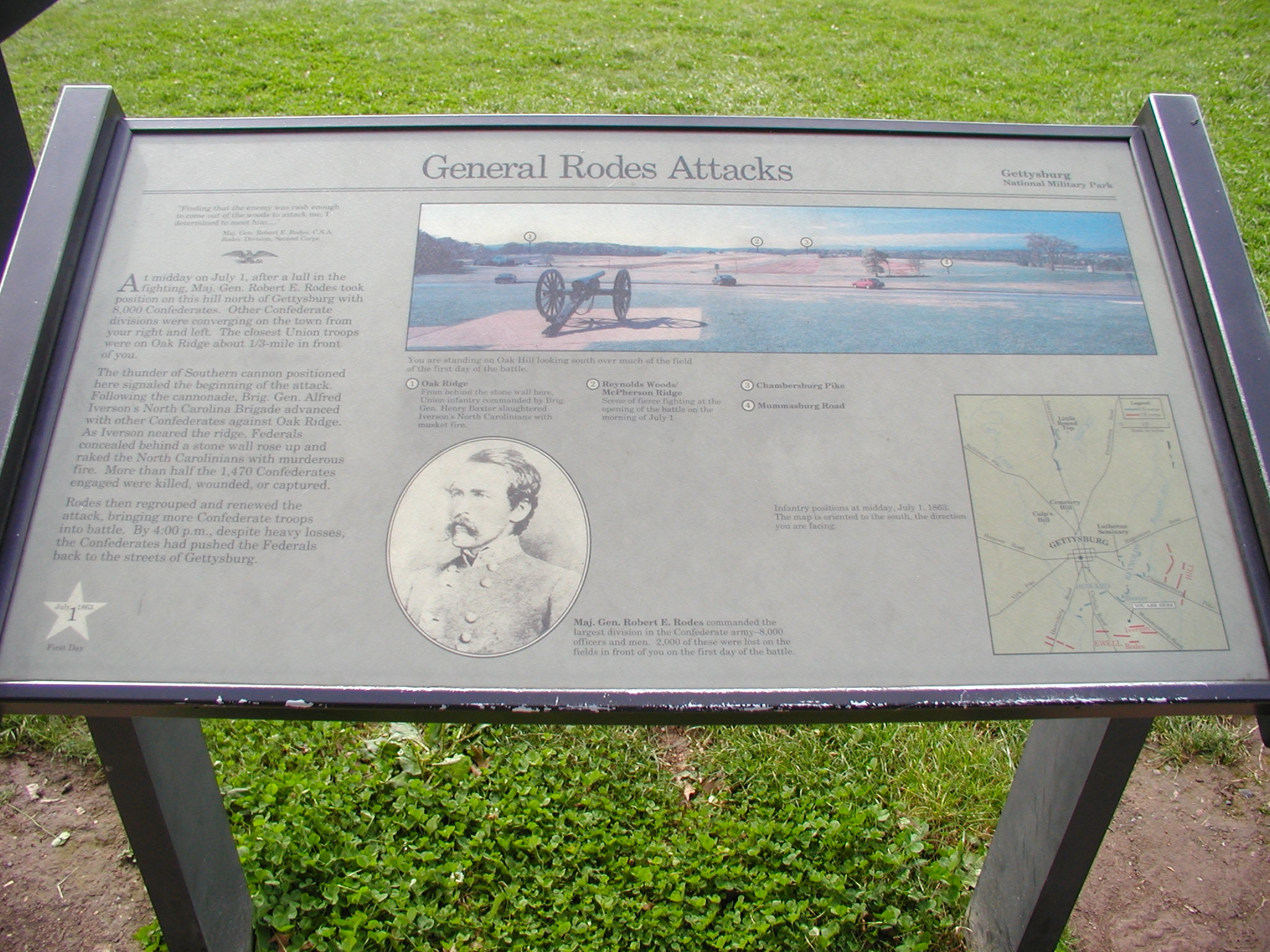General Rodes Attackes Marker