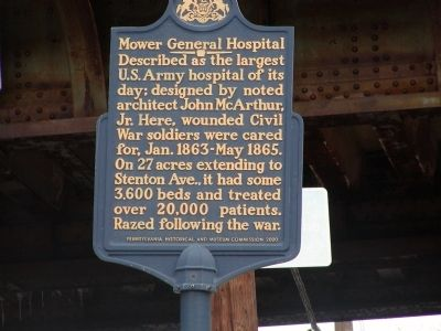 Mower General Hospital Marker image. Click for full size.