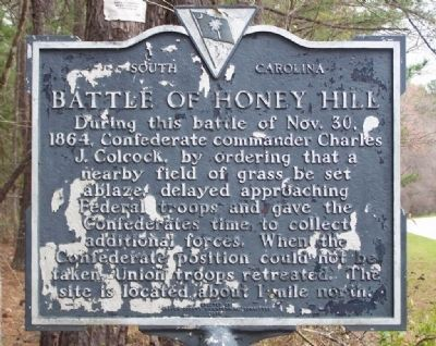 Battle of Honey Hill Marker Photo, Click for full size