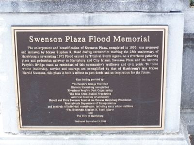 Swenson Plaza Flood Memorial Marker image. Click for full size.
