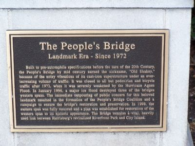 The People's Bridge Marker Photo, Click for full size