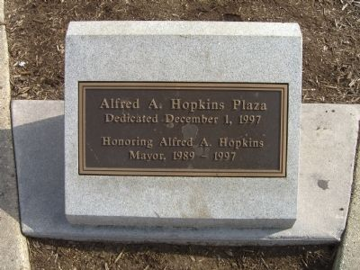 Alfred A. Hopkins Plaza Marker image. Click for full size.