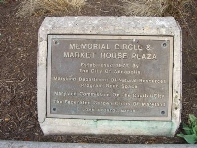 Memorial Circle and Market House Plaza Marker image. Click for full size.