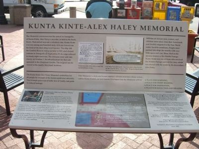 Kunte Kinte-Alex Haley Memorial Marker image. Click for full size.