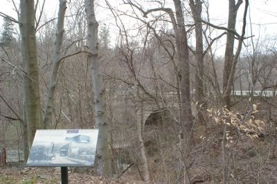 Marker and bridge over the Gwynns Falls image. Click for full size.