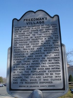 Freedman's Village Marker Photo, Click for full size