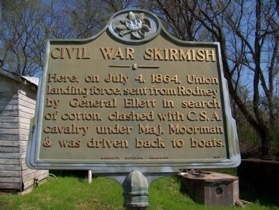 Civil War Skirmish Marker image. Click for full size.
