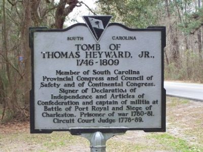 Tomb of Thomas Heyward, Jr. Marker image. Click for full size.