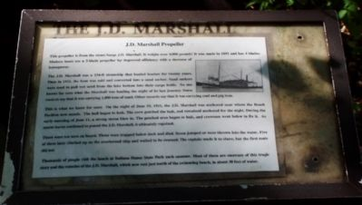 The J.D. Marshall Marker image. Click for full size.