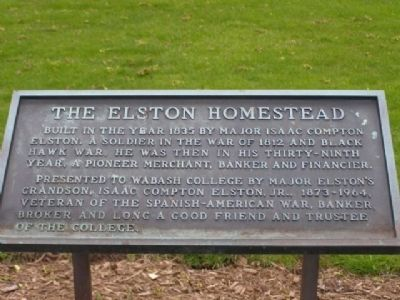 The Elston Homestead Marker image. Click for full size.