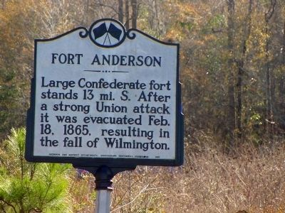 Fort Anderson Marker image. Click for full size.