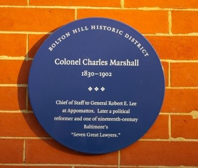 Colonel Charles Marshall Marker image. Click for full size.