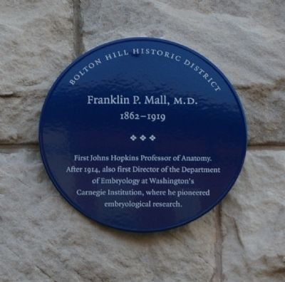 Franklin P. Mall, M.D. Marker image. Click for full size.