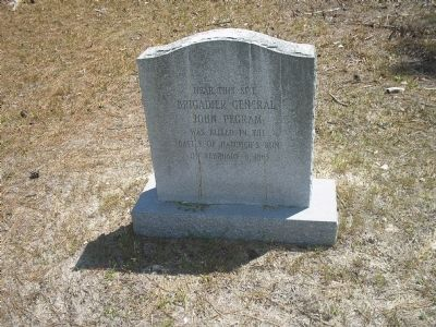 Gen. John Pegram Death Site image. Click for full size.