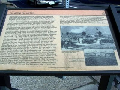 Camp Curtin Marker image. Click for full size.