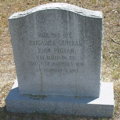Gen. John Pegram Death Monument image. Click for full size.