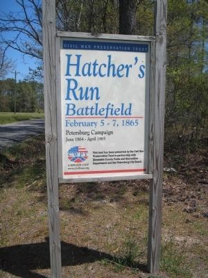 Hatcher's Run Battlefield image. Click for full size.