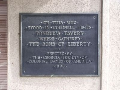 Tondee's Tavern Marker image. Click for full size.