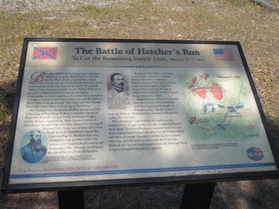The Battle of Hatcher�s Run Marker image. Click for full size.