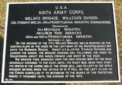 Welsh's Brigade Tablet image. Click for full size.