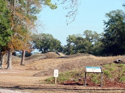 Marker and Some of the Earthworks image. Click for full size.