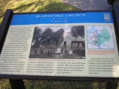 Blandford Church Marker Photo, Click for full size