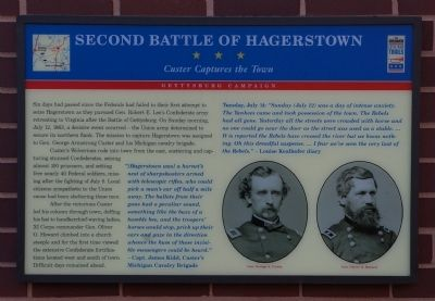 Second Battle of Hagerstown Marker image. Click for full size.