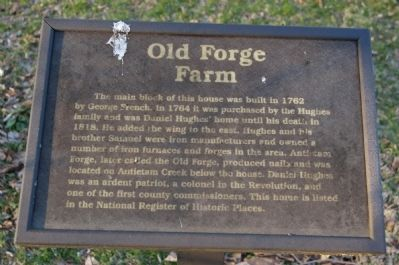 Old Forge Farm Marker image. Click for full size.