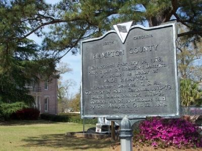 Hampton County Marker image. Click for full size.