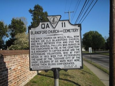 Blandford Church and Cemetery Marker Photo, Click for full size