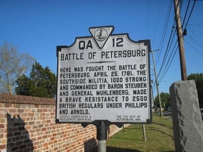 Battle of Petersburg Marker image. Click for full size.