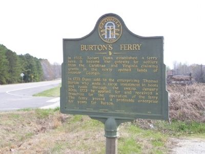 Burton's Ferry Marker image. Click for full size.