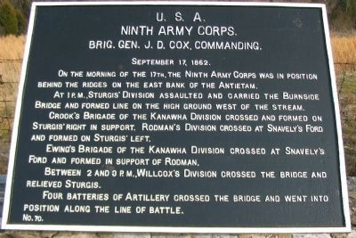 Ninth Corps, Main Tablet image. Click for full size.