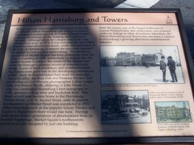 Hilton Harrisburg and Towers Marker image. Click for full size.