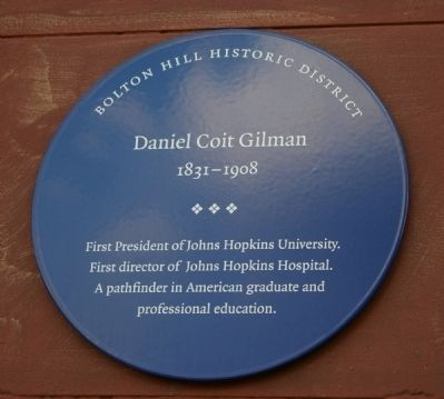 Daniel Coit Gilman Marker Photo, Click for full size