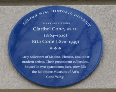 The Cone Sisters Marker image. Click for full size.