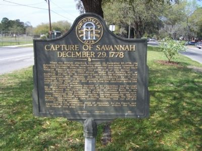 Capture of Savannah December 29, 1778 Marker Photo, Click for full size