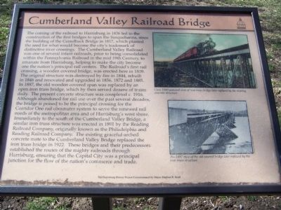 Cumberland Valley Railroad Bridge Marker image. Click for full size.