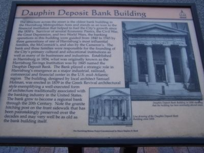 Dauphin Deposit Bank Building Marker image. Click for full size.