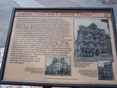 Lochiel Hotel and Colonial Theater Marker image. Click for full size.