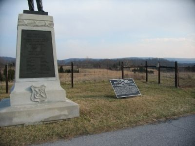Nagle's Brigade Tablet next to the 48th Pennsylvania Regiment Monument image. Click for full size.