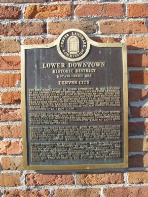 Lower Downtown Historic District Marker Photo, Click for full size